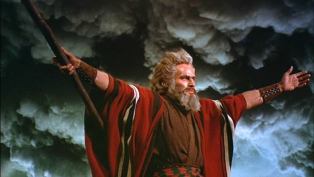 Charlton Heston as Moses in The Ten Commandments (Paramount Pictures)