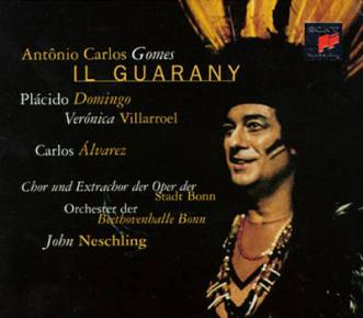 Placido Domingo in Il Guarany CD cover