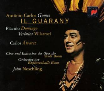 Placido Domingo in Il Guarany CD cover