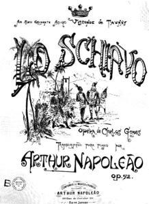 Cover page of the piano score of Lo Schiavo