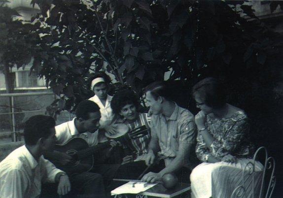 Buddy Deppenschmidt (center) in Brazil, 1961