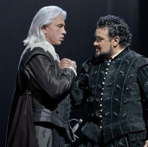 Dmitri Hvorostovky & Ramon Vargas (Ken Howard / Met Opera)