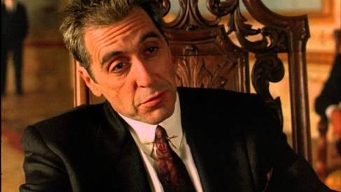 Al Pacino as an older Michael Corleone in The Godfather Part III