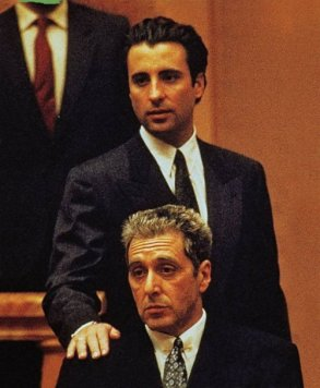 Andy Garcia as nephew Vincent & Al Pacino as Michael in The Godfather Part III