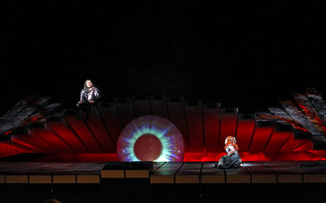 "Wotan's all-seeing ""eye"" from Act 2 of Die Walkuere"