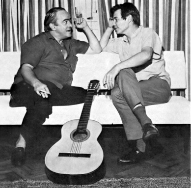 Vinicius making a point to Jobim