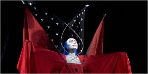 Erika Miklosa as the Queen of the Night (Cory Weaver / Met Opera)