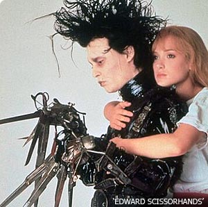 Depp & Winona Ryder in Edward Scissorhands