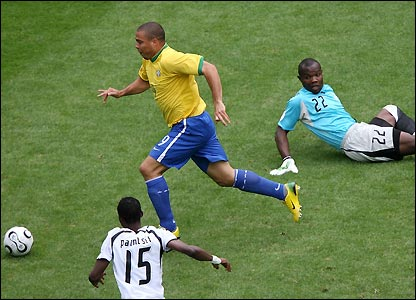 Brazil's Ronaldo on a roll