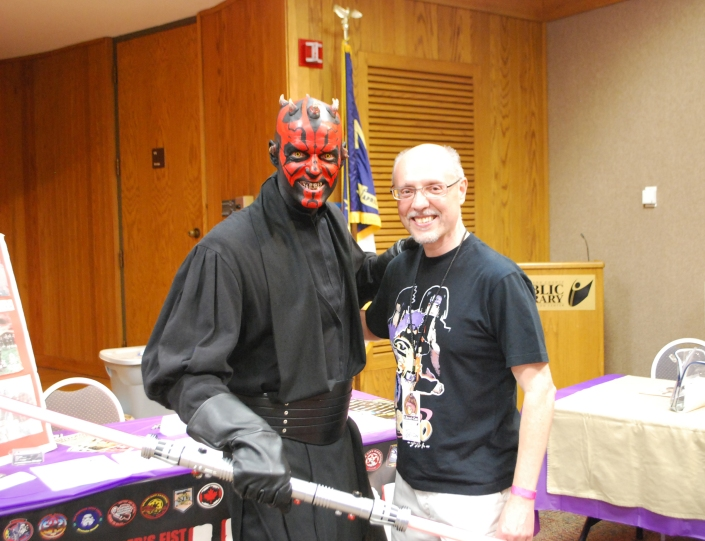 Darth Maul & me at Librari-Con 2013 (Photo: Ernie, 501st Legion)