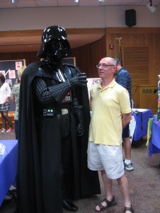 Darth Vader (Bill Lane) & helpless victim (me) - Librari-Con 2011
