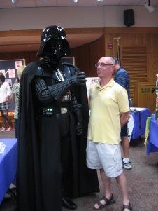 Darth Vader (Bill Lane) & helpless victim (me) - Librari-Con 2011