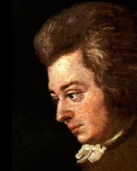 Unfinished portrait of Mozart (1789) by Josef Lange