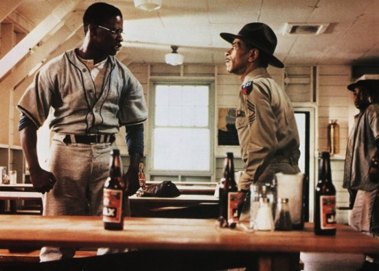Denzel with Adolph Caesar in A Soldier's Story (backtimetv.blogspot.com)