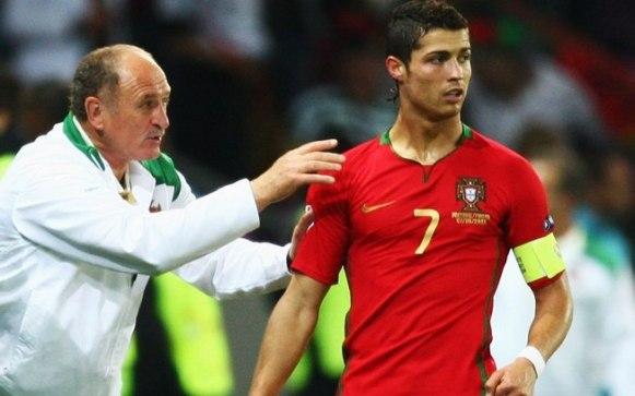 Felipao coaching Cristiano Ronaldo (esporte.ig.com.br)