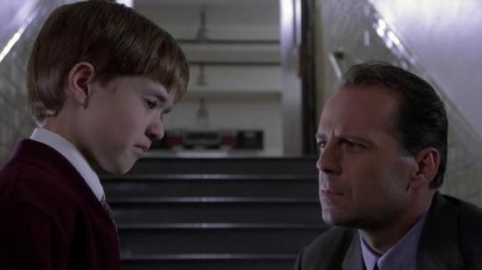 Haley Joel Osment & Bruce Willis in The Sixth Sense