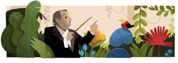 Villa-Lobos doodle on Google
