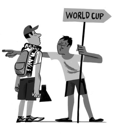 """Which way to the World Cup?"" (Joao Fazenda)"