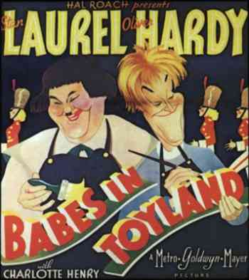 Laurel & Hardy Poster Art for Babes in Toyland