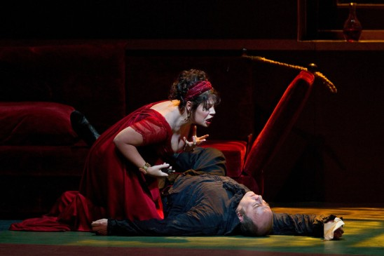 Sondra Radvanovsky in Act II of Tosca (Ken Howard)