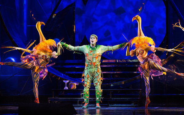 Papageno & Dancing Flamingos (Ken Howard/Met Opera)