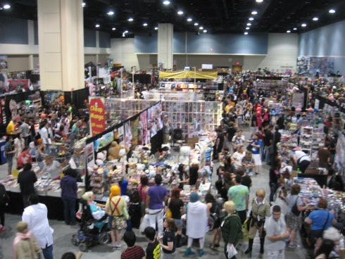The Dealer's Room at Animazement (Photo: Natalia Lopes, 2012)