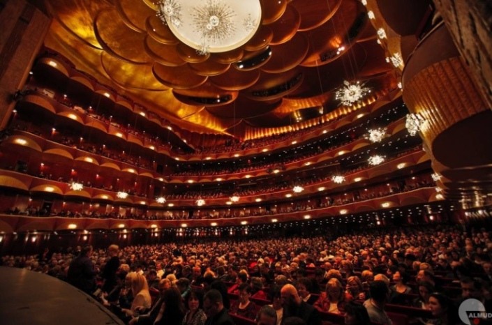 Interior of the Metropolitan Opera
