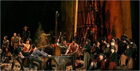 Anvil Chorus, Act II (Sara Krulwich/NY Times)