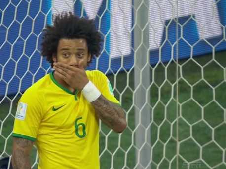 Marcelo scores own goal against Brazil