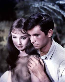 Audrey with Anthony Perkins in Green Mansions