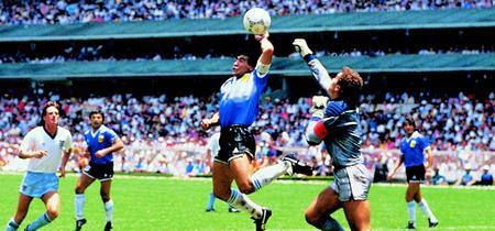 "Diego Maradonas's ""Hand of God"" moment"