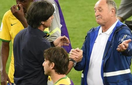 """Oh, it's only a game!"" Felipao grasps German coach's hand (dailystar.com)"