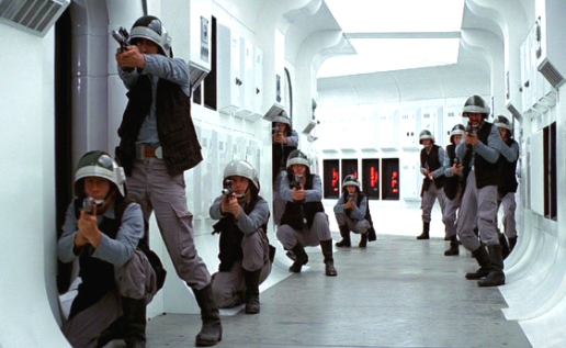 Rebel Alliance preparing for battle (Star Wars -- Episode IV)