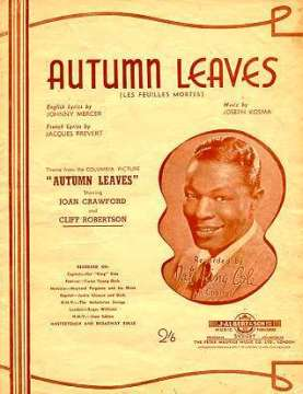 "Nat King Cole sings ""Autumn Leaves"" (sheet music)"