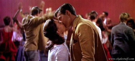 Maria (Natalie Wood) kisses Tony (Richard Beymer) for the fist time in West Side Story