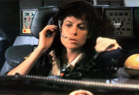 Lt. Ripley on board Nostromo