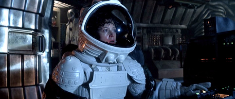 Ripley manages to harpoon the Alien