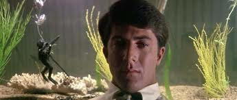Benjamin (Dustin Hoffman) brooding about life
