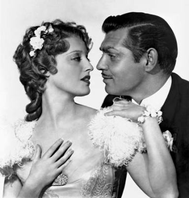 """MacDonald with the """"King,"""" Clark Gable, in San Francisco"""