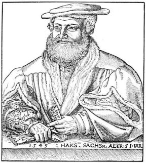 Woodcut of the real life Hans Sachs
