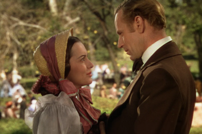 Melanie Hamilton (Olivia de Havilland) with Ashley Wilkes (Leslie Howard)