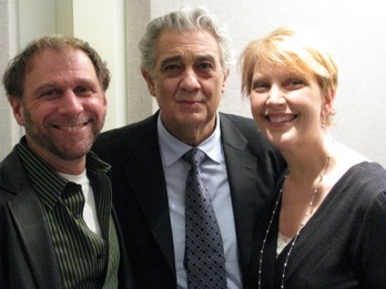 Ira Siff, with Placido Domingo and Margaret Juntwait