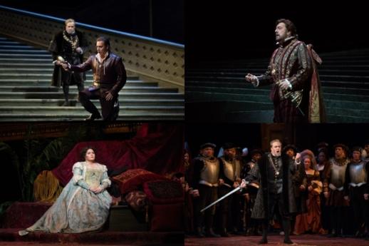 Scenes from Verdi's Ernani (Photo: Marty Sohl / Met Opera)