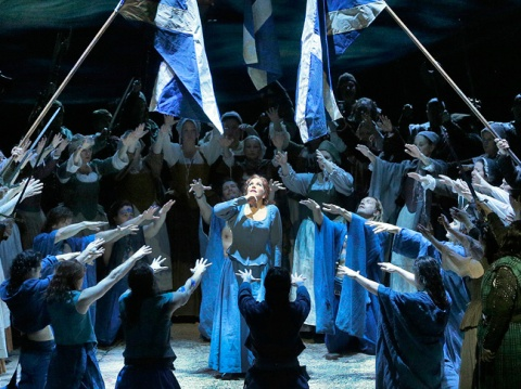 Joyce DiDonato (center) in La Donna del Lago (Met Opera)
