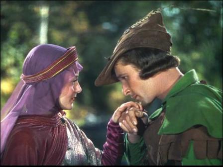 Lady Marian (Olivia de Havilland) & Robin Hood (Errol Flynn)