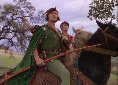 Errol Flynn and Patric Knowles in The Adventures of Robin Hood