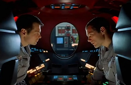 Frank & Dave are spied upon by the HAL 9000
