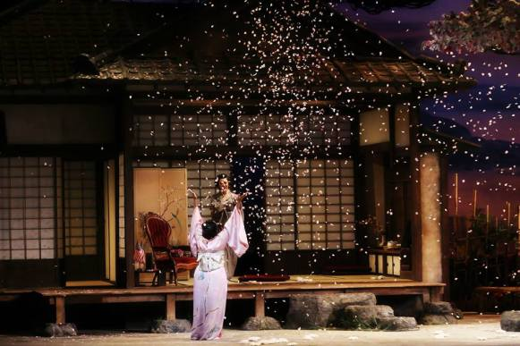 Flower Duet from Act II of NCO's production of Madama Butterfly (Photo: Curtis Brown)