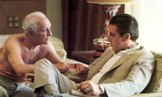 "Hyman Roth (Lee Strasberg) & Michael: ""We're bigger than US Steel"""