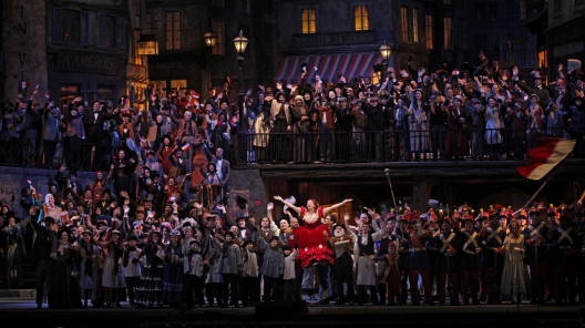 Finale to Act II of La Boheme at the Met